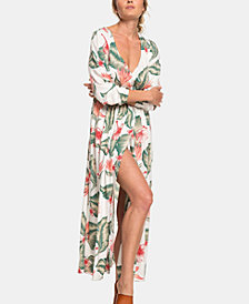 Roxy Juniors' Floral-Print Wrap Dress
