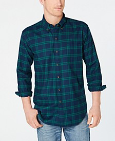 Men's Flannel Shirt with Magnetic Buttons