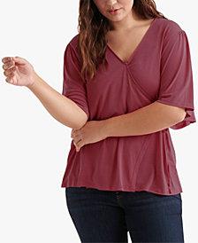 Lucky Brand Plus Size Wrap V-Neck Top
