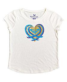 Roxy Big Girls Painted Wave Heart