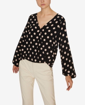 Sanctuary Tops CORI PRINTED BLOUSON-SLEEVE TOP
