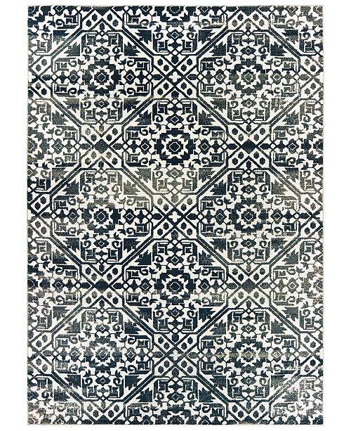 """Oriental Weavers Bowen 5506E Navy/Ivory 9'10"""" x 12'10"""" Area Rug"""