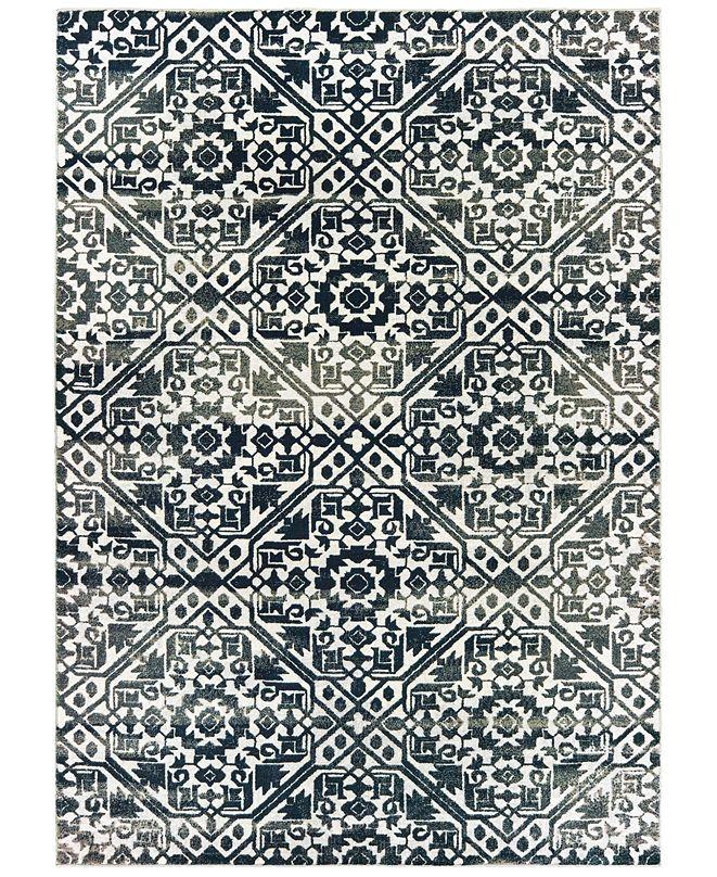 """Oriental Weavers Bowen 5506E Navy/Ivory 5'3"""" x 7'6"""" Area Rug"""