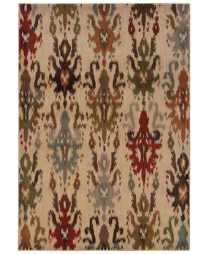 """Oriental Weavers - Casablanca 4437A Ivory/Multi 9'10"""" x 12'10"""" Area Rug"""
