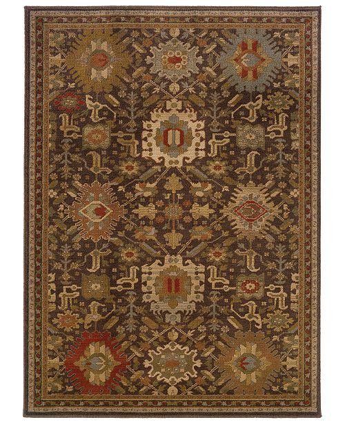 """Oriental Weavers CLOSEOUT!  Casablanca 4444A Mink/Multi 7'10"""" x 10'10"""" Area Rug"""