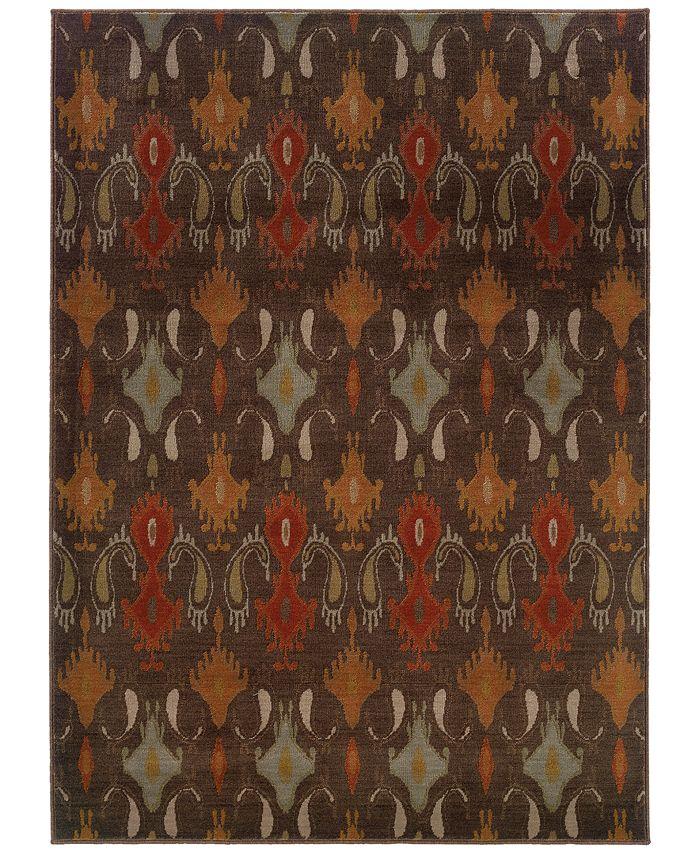 """Oriental Weavers - Casablanca 4447A Mink/Multi 1'10"""" x 3'3"""" Area Rug"""