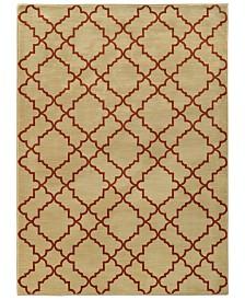 """CLOSEOUT! Oriental Weavers  Casablanca 5178E Beige/Rust 9'10"""" x 12'10"""" Area Rug"""