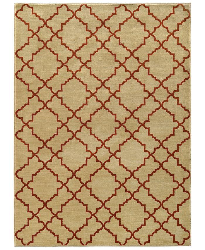 """Oriental Weavers - Casablanca 5178E Beige/Rust 3'10"""" x 5'5"""" Area Rug"""