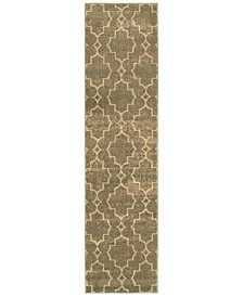 "CLOSEOUT!  Casablanca 5329B Brown/Ivory 1'10"" x 7'6"" Runner Area Rug"