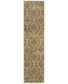 "CLOSEOUT! Oriental Weavers  Casablanca 5329B Brown/Ivory 1'10"" x 7'6"" Runner Area Rug"