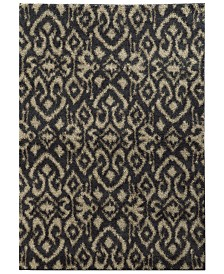 "Oriental Weavers Covington Shag 505B6 Midnight/Beige 3'3"" x 5'5"" Area Rug"