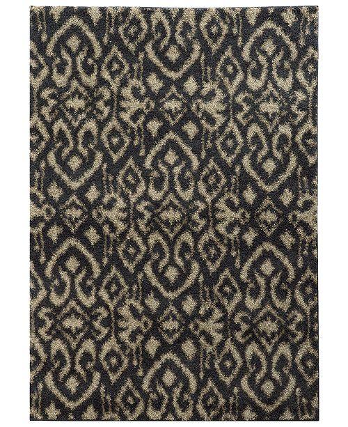 """Oriental Weavers Covington Shag 505B6 Midnight/Beige 3'3"""" x 5'5"""" Area Rug"""