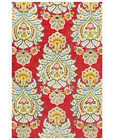 "Technicolor TEC-1032 Bright Red 5' x 7'6"" Area Rug"
