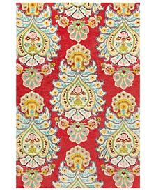 """Surya Technicolor TEC-1032 Bright Red 5' x 7'6"""" Area Rug"""