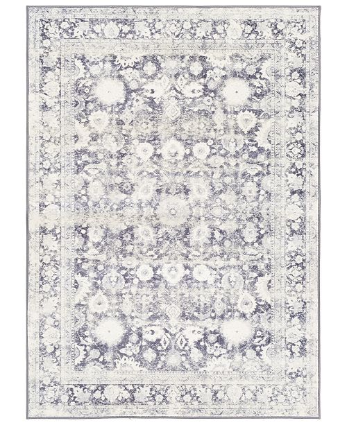 "Surya Silk Road SKR-2312 Medium Gray 7'10"" x 10'3"" Area Rug"