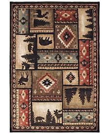 "Oriental Weavers Woodlands 1041C Black/Multi 7'10"" x 10' Area Rug"