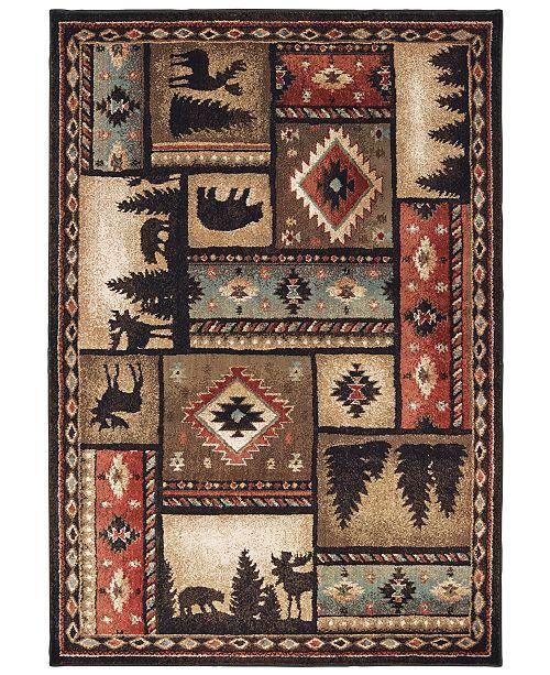 "Oriental Weavers Woodlands 1041C Black/Multi 9'10"" x 12'10"" Area Rug"