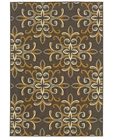 "Bali 8990H Gray/Gold 7'10"" x 10'10"" Indoor/Outdoor Area Rug"