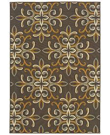 """Oriental Weavers Bali 8990H Gray/Gold 2'5"""" x 4'5"""" Indoor/Outdoor Area Rug"""