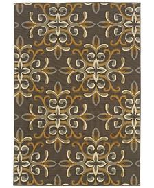 """Oriental Weavers Bali 8990H Gray/Gold 3'7"""" x 5'6"""" Indoor/Outdoor Area Rug"""