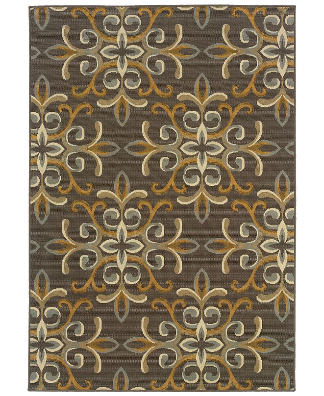 "Oriental Weavers Bali 8990H Gray/Gold 2'5"" x 4'5"" Indoor/Outdoor Area Rug"