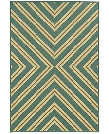 """Oriental Weavers Riviera 4589 1'9"""" x 3'9"""" Indoor/Outdoor Area Rug"""