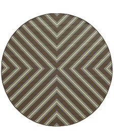 "Oriental Weavers Riviera 4589 7'10"" Indoor/Outdoor Round Area Rug"