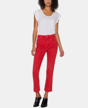 Sanctuary Jeans MODERN HIGH-RISE STRAIGHT ANKLE JEANS