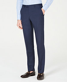 HUGO Men's Slim-Fit Mini-Check Pants