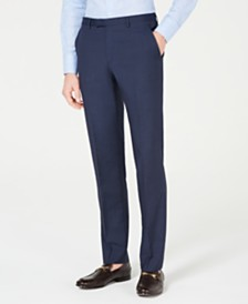 HUGO Men's Slim-Fit Mini-Check Pants