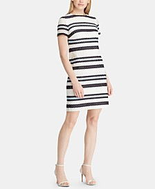 Lauren Ralph Lauren Crochet-Striped Dress