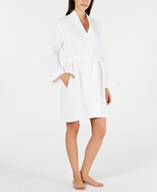 Charter Club Luxe Woven Turkish Cotton Waffle Robe, Created for Macy's