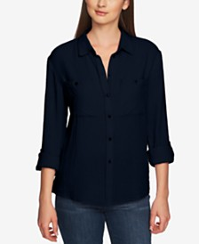 1.STATE Cotton Patch-Pocket Roll-Tab Shirt