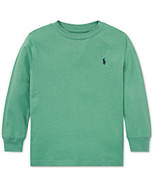 Polo Ralph Lauren Little Boys Long-Sleeve Cotton T-Shirt