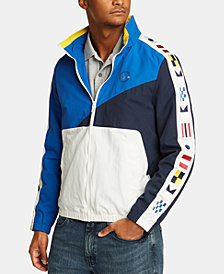Nautica Men's Blue Sail Signal Flag Full Zip Jacket, Created for Macy's