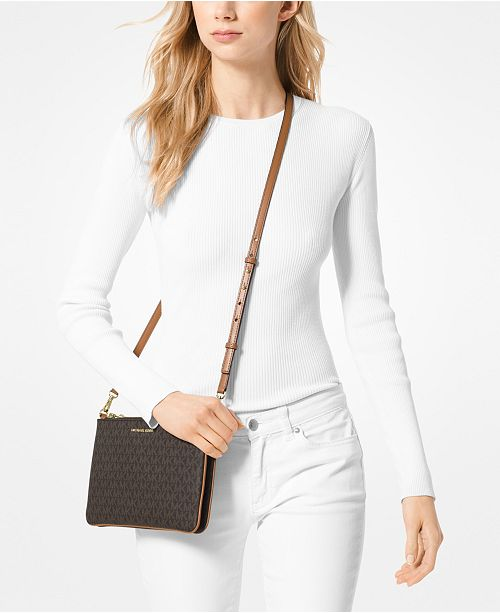 Signature Double Pouch Crossbody