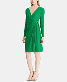 Lauren Ralph Lauren Buckled Jersey Dress