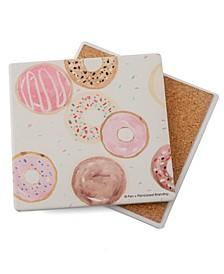 Watercolor Donuts Coaster Single