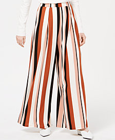 Bar III Printed Knit Wide-Leg Pants, Created for Macy's