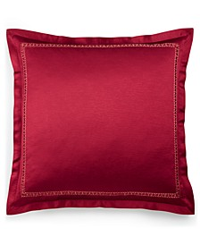 Red Luxe Border European Sham, Created for Macy's
