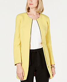 Nine West Zip-Front Crepe Topper