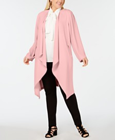 Nine West Plus Size Soft Crepe Duster