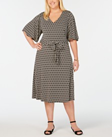 Charter Club Plus Size Honey Iconic Midi Dress, Created for Macy's