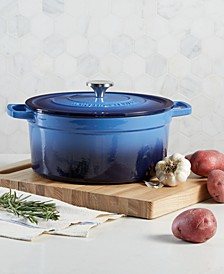 Enameled Cast Iron Round 6-Qt. Dutch Oven, Created for Macy's
