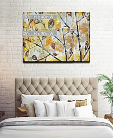 'Blowing Autumn Leaves' Canvas Wall Art Collection