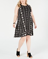 1217965209316 Style   Co Plus Size Printed Sleeveless Dress