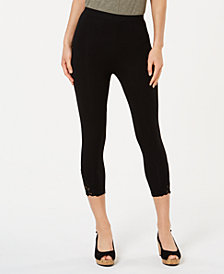 Style & Co Petite Crochet-Hem Capri Leggings, Created for Macy's