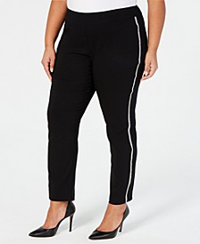Plus Size Straight-Leg Trousers, Created for Macy's