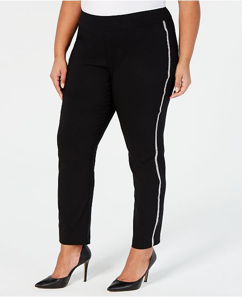 JM Collection Plus Size Straight-Leg Trousers, Created for Macy's