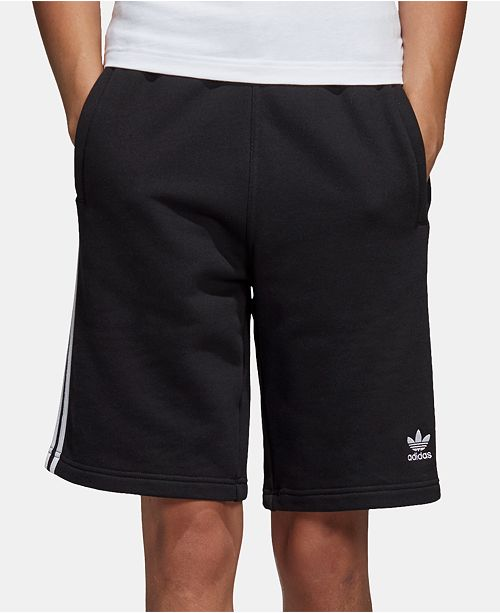 adidas Men's French Terry Three-Stripe Shorts